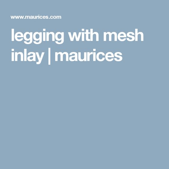 legging with mesh inlay | maurices