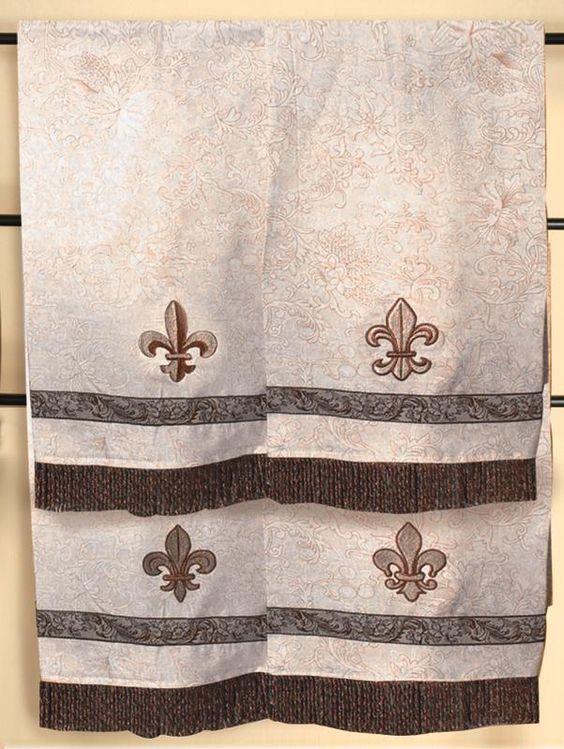 Hand towel sets home and decor on pinterest - Fleur de lis bath towels ...