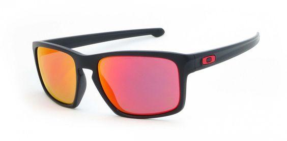 Oakley Sonnenbrille Sliver, Matte Black W Ruby Iridium, One size, OO9262-12