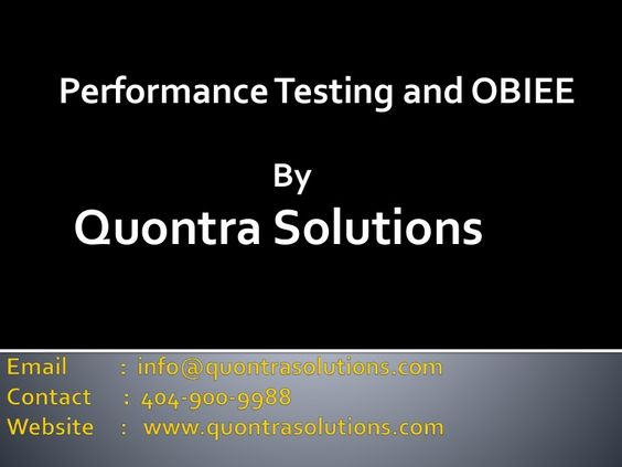 Quontra Solutions For more details    wwwquontrasolutions - obiee sample resume