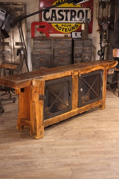 Renaud Jaylac Antiquites Brocante Toulouse Meuble Industriel Metier Vintageindustrialfurniture En 2020 Meubles Industriels Deco Salon Industriel Etabli