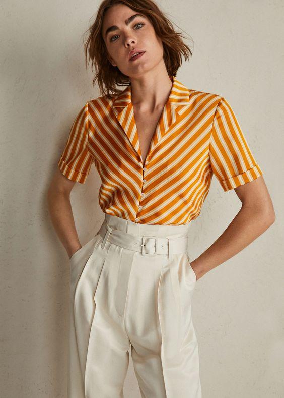 Струящаяся блузка с узлом