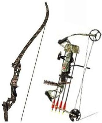 how to draw a hunting bow