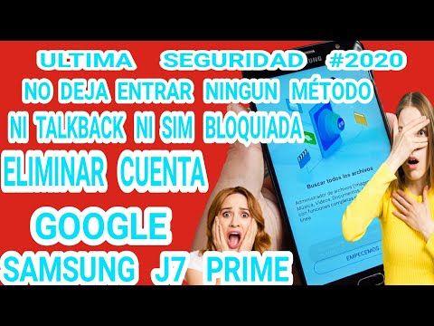 Como Quitar Cuenta De Google Samsung J7 Prime G610m 2020 How Remove Account Google Android 8 1 0 Youtube Como Quitar Samsung Google