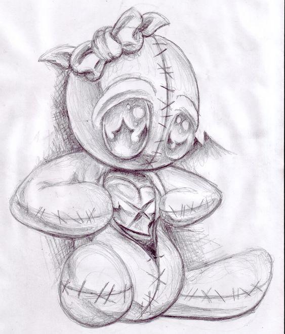 Sketch idea - voodoo girl