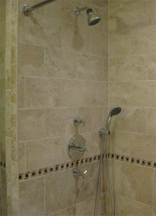 Fine Shower Head With Separate Hand Held Contemporary - Bathtub ...