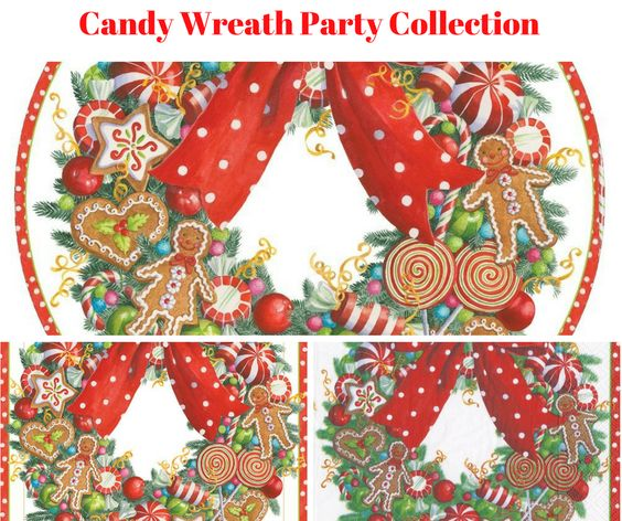 Candy Wreath Party Collection Banner