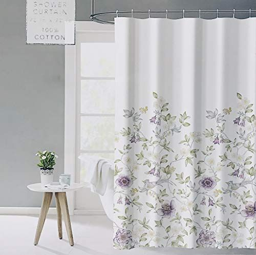 Envogue White French Country Provincial Wildflower Vintage Shower Curtain In 2020 Vintage Shower Curtains Floral Shower Curtains Curtains