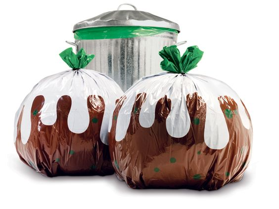 Now you can make the boring chore of taking out the rubbish more artistic! Brighten your day and bring a little happiness to your streets on collection day.   Featuring xmas pudding design  12 bags per pack