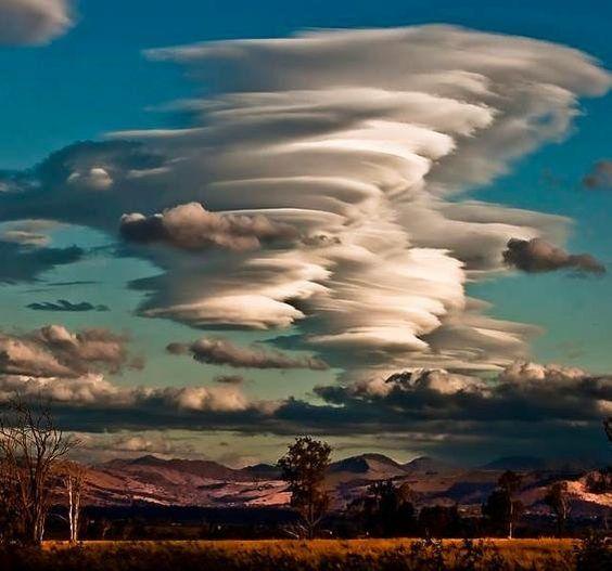 rare lenticular clouds in Australia                                                                                                                                                     More