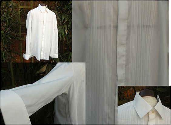 1970s Men's Dress Shirts  Black Tie  by Petticoatjanevintage, £9.00