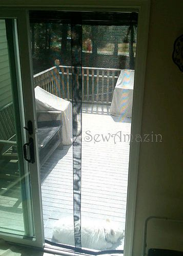 Diy screen curtains i 39 ve looked at these never thought for Magnetic sliding screen door