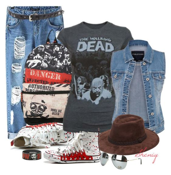 """""""Apocalypse Casual by Sheniq"""" by sheniq ❤ liked on Polyvore featuring Chicnova Fashion, maurices, Forever 21 and Fashion Focus"""