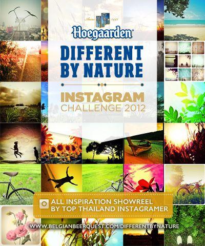 "Hoegaarden Different by Nature Instagram Challenge 2012 การประกวดถ่ายภาพธรรมชาติ สร้างความสดชื่นให้ชีวิต ชิงรางวัลรวมมูลค่า 50,000 บาทภายใต้แนวคิด""ธรรมชาติ กับความสดชื่นของชีวิต"" หมดเขตรับผลงาน 30 มิ.ย. 55"