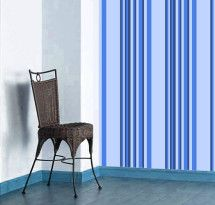 Papel de Parede em Adesivo – Listras Azuis Largas   Leandro Selister