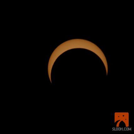 California feed - getting close to ring of fire www.slooh.com #annular #solar