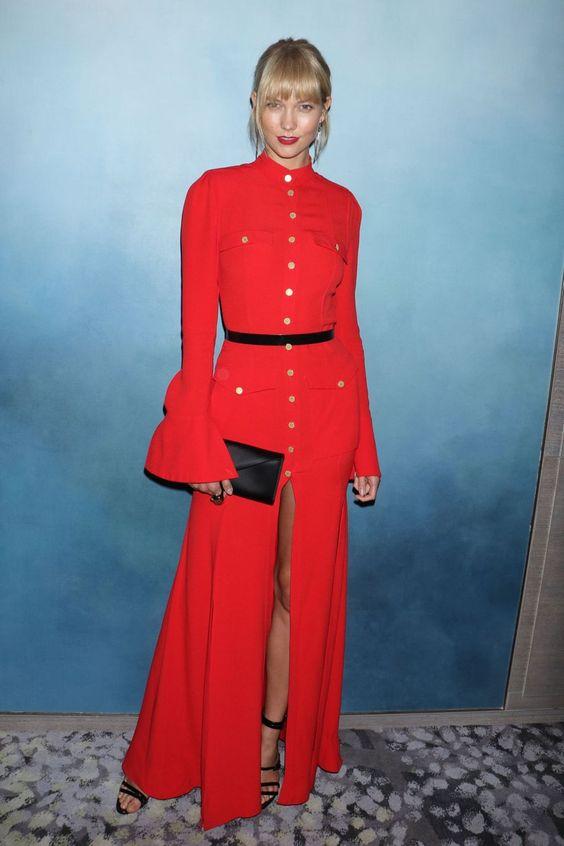 New York Fashion Week Fashion Media Awards – Karlie Kloss in Ronald Van Der Kemp Couture.