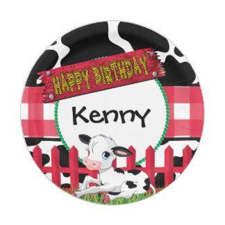 Barnyard Birthday Party Paper Plate