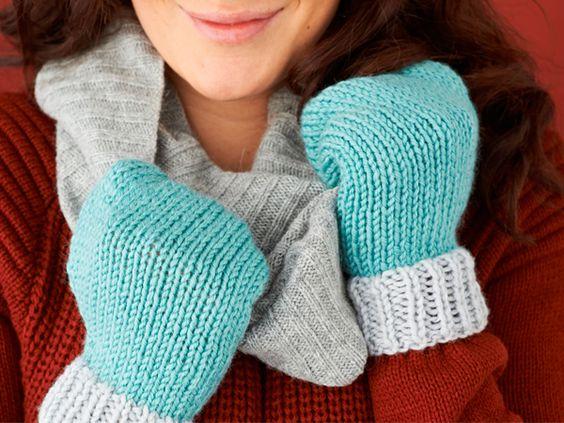 Easy mittens knitting pattern final1 Mollie Makes Beginner Knitting P...