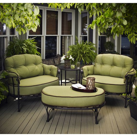 American manufactured wrought iron patio furniture family leisure project backyard - Eigentijdse patio meubels ...