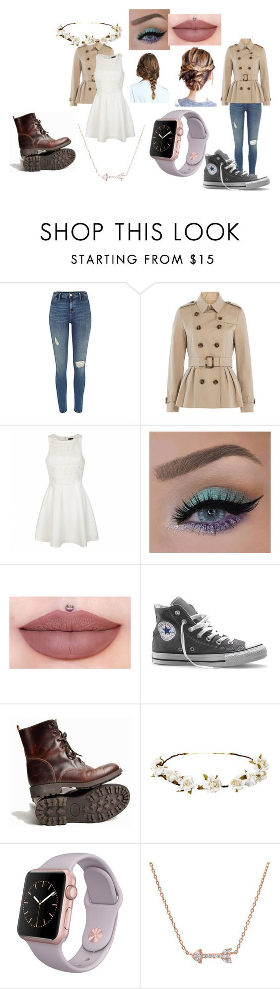 """""""two ways to use your coat"""" by malaina-819 on Polyvore featuring Burberry, Ally Fashion, Converse, Cult Gaia and Unique"""