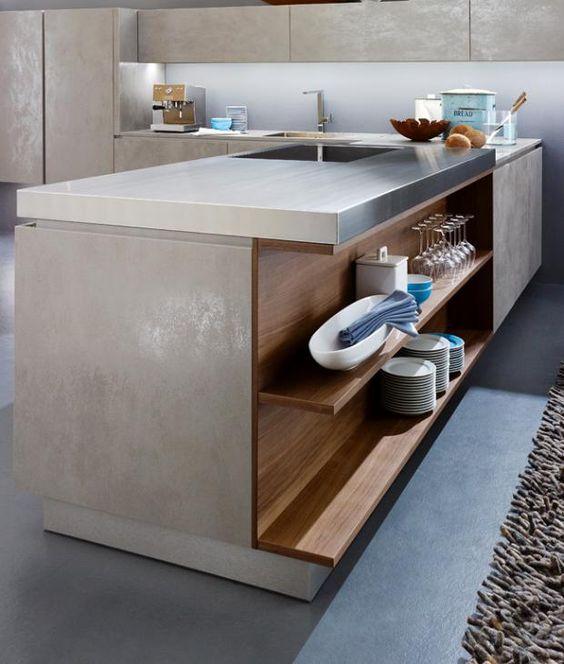 """Mit trendiger Beton-Optik: Küche """"Alnostar Cera"""" von Alno"""