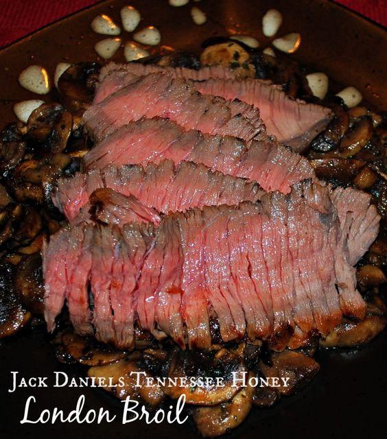 Jack Daniels Tennessee Honey London Broil | Carrie's Experimental Kitchen #beef #jackdaniels