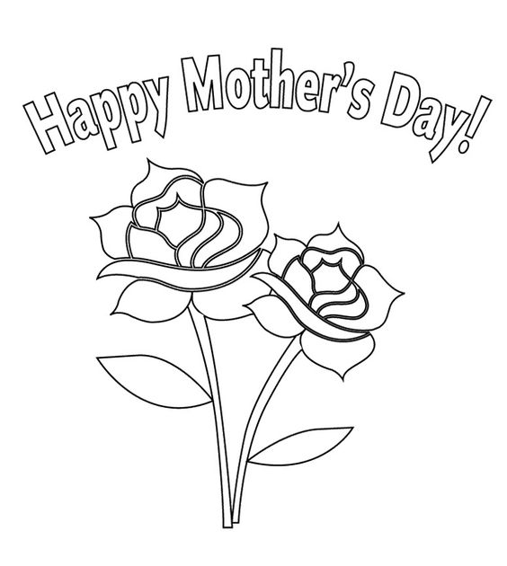 coloring pages of flowers for mom | Mothers, Coloring pages for kids and Mother's day on Pinterest