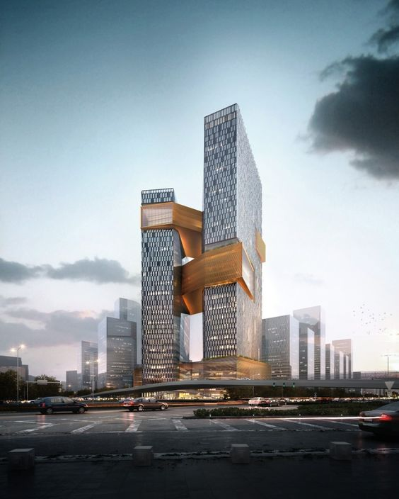 NBBJ Designs Towering Shenzhen Campus for Internet Giant #architecture