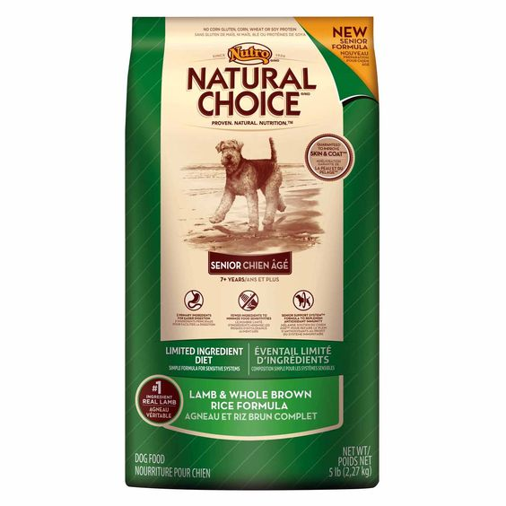 Nutro Natural Choice Limited Ingredient Diet Lamb & Whole Brown Rice Formula Senior Dog Food