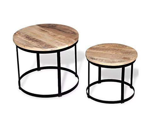 Two Piece Coffee Table Handmade Of Rough Mango Wood Comfyleads You Could Locate Even More Infor In 2020 Coffee Table Wood Coffee Table Industrial Style Coffee Table