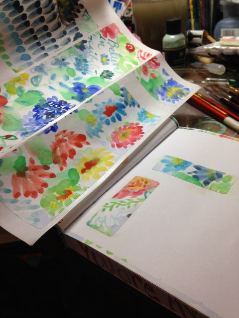 decorated labels, watercolor, art journaling, art journals, painting, crafts, handmade washi tape, brushes
