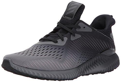 Adidas Men S Alphabounce Em M Running Shoe Black Grey Four White