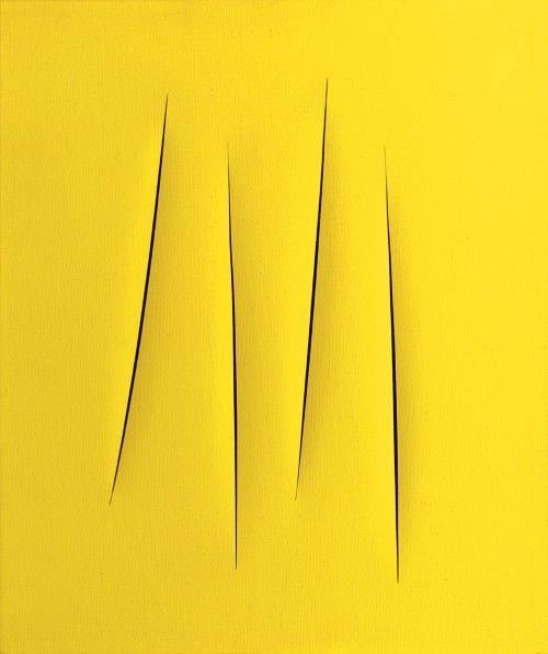 LUCIO FONTANA http://www.widewalls.ch/artist/lucio-fontana/ #sculpture