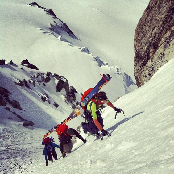 May powder in Chamonix with Arc'athletes Christina Lusti and Eric Hjorleifson