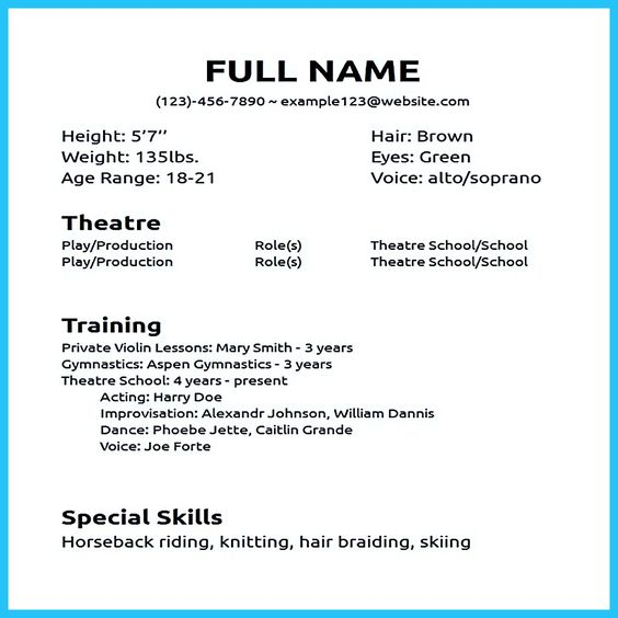 Actor Resume Sample Presents How You Will Make Your Professional Or Beginner The