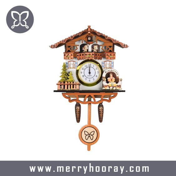 Mdf Wood Cuckoo Clock Birthday Return Gift Kids Modern Cuckoo Clocks Small Wall Clock Cuckoo Clock