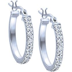 these gorgeous sterling silver and crystal hoop earrings from ben these gorgeous sterling silver and crystal hoop earrings from ben moss jewellers are the perfect choice