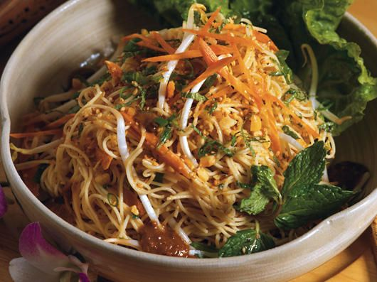 Thai Noodle Salad    A beautiful Thai style noodle salad that is fresh and full of flavor!