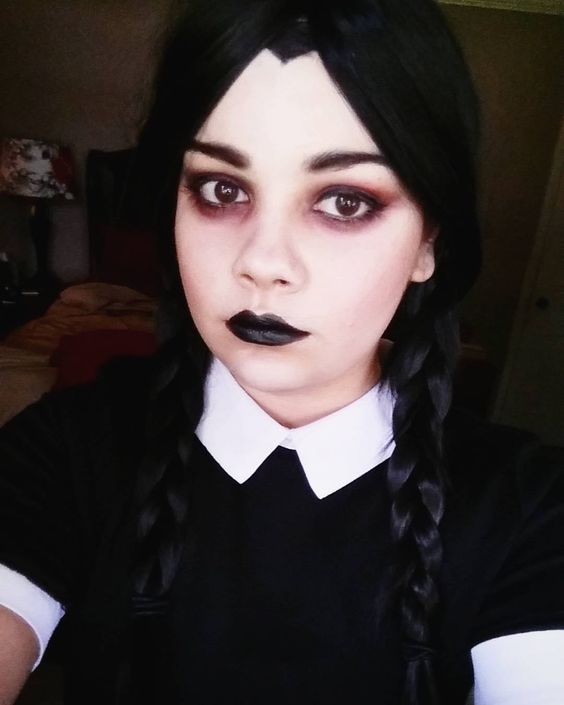 Wednesday Addams makeup test! Look inspired by ...