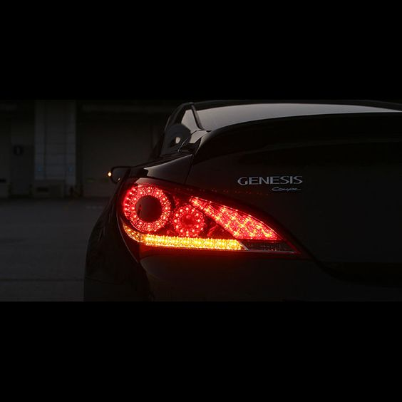hyundai genesis coupe 2010 2013 led tail lights tail rear lamps 1 1 replacement sexy coupe. Black Bedroom Furniture Sets. Home Design Ideas