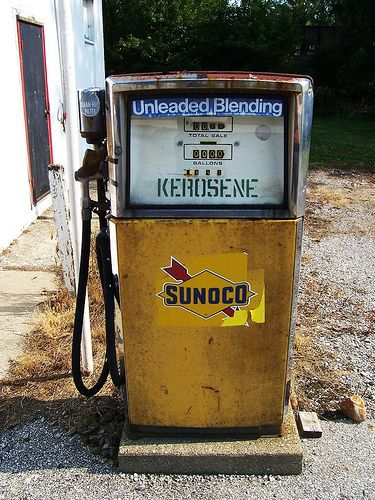 Vintage Sunoco Pump #1 | A neat rectangular Sunoco pump at a… | Flickr