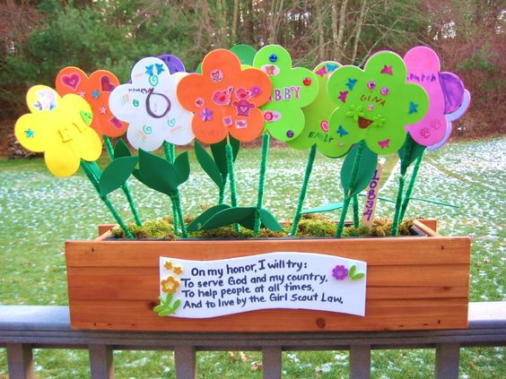 Girl scout daisy flower garden coloring pages daisy girl for Girl scout daisy craft ideas