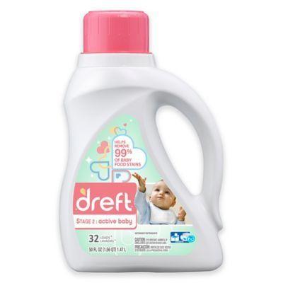 Dreft Stage 2 Active Baby 50 Oz Hec Liquid Deter Baby Laundry