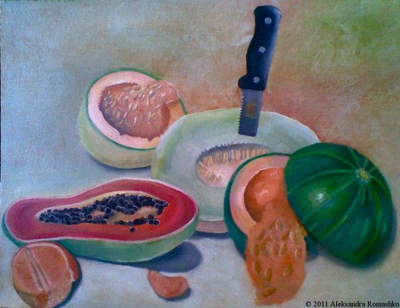 Aleksandra Romashko  Name: Yummy   Material: Oil Paints