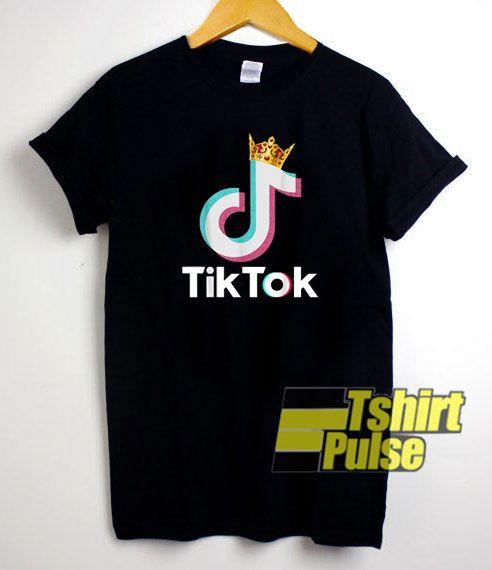 Tik Tok Logo Crown T Shirt For Men And Women Tshirt T Shirts For Women Mens Tshirts T Shirt