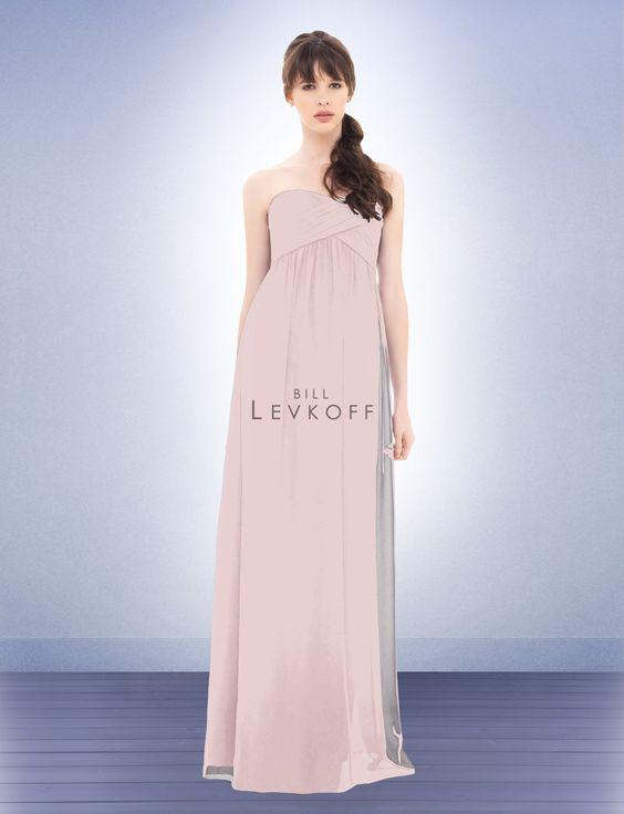 Bridesmaid dresses: Floor length, sweetheart neckline, chiffon