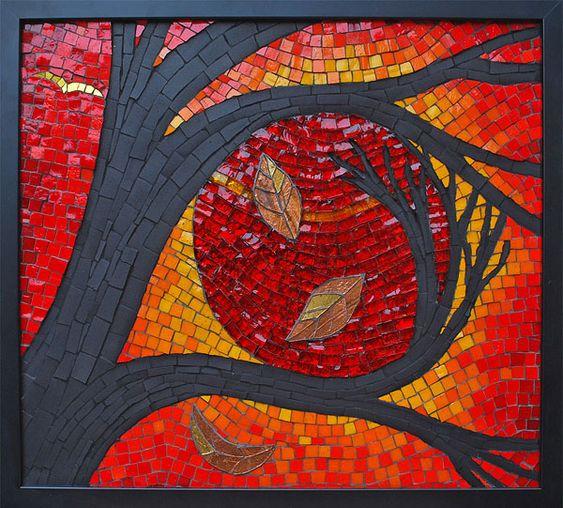 Kate Rattray Mosaiken.  Die Umarmung.