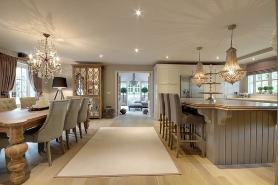 From England is a home on Cave Road in Brough. This home features a beautiful combined kitchen and dining room that is as elegant as it is comfortable.