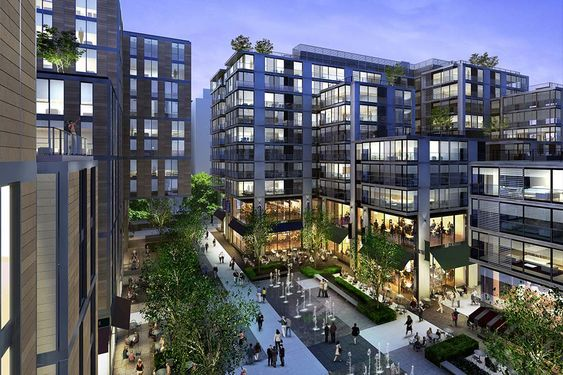 View Gallery Dc Luxury Apartments The Apartments At Citycenter Plaza Design Public Space Design Landscape